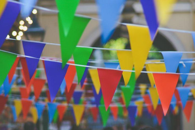 celebration party flags