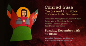 Conrad Susa Carols and Lullabies graphic