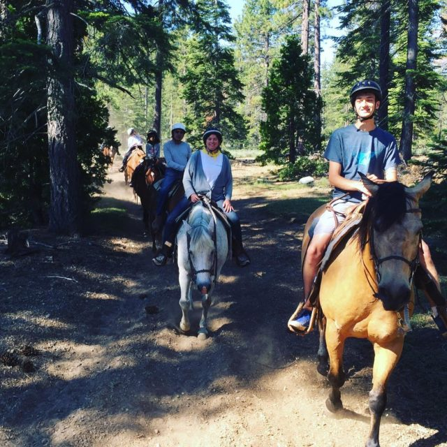 Communing with nature church family and some horses churchretreat tahoe